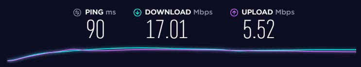 I've checked the speed after connection to the free server in the Netherlands