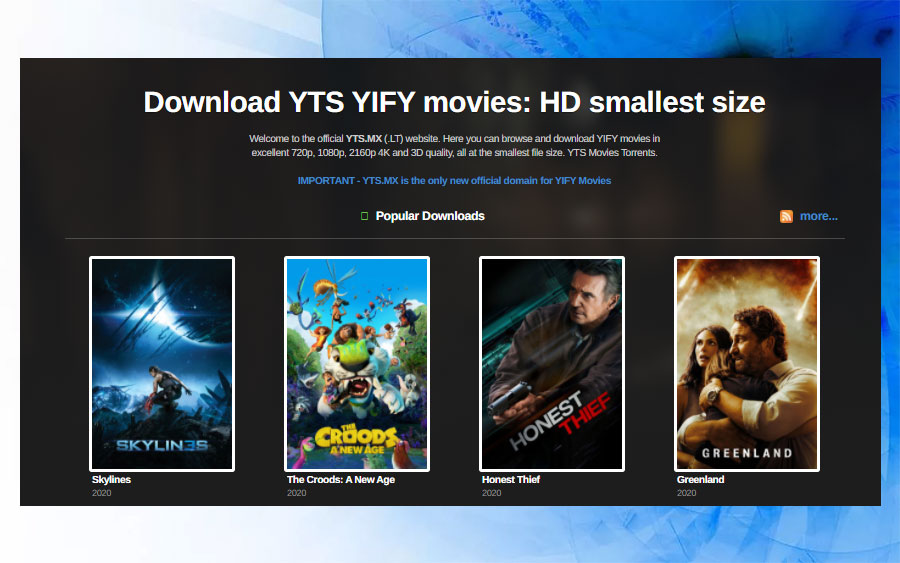 YIFY website