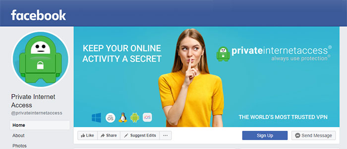 Private Internet Access for Facebook