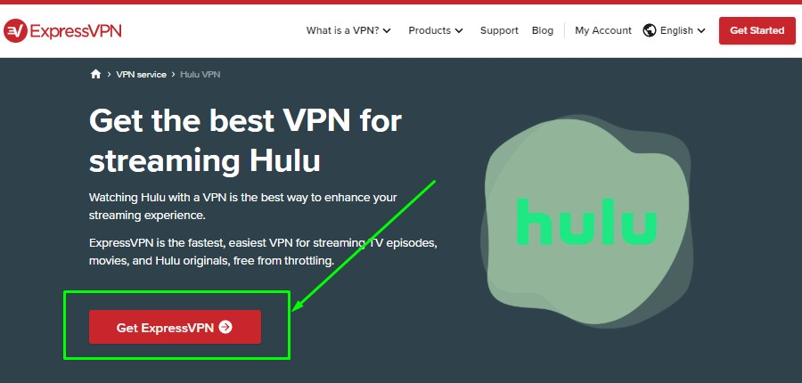 ExpressVPN Sign Up Button